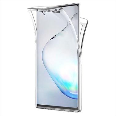 Microsonic Samsung Galaxy Note 10 Kılıf 6 tarafı tam full koruma 360 Clear Soft Şeffaf Renksiz